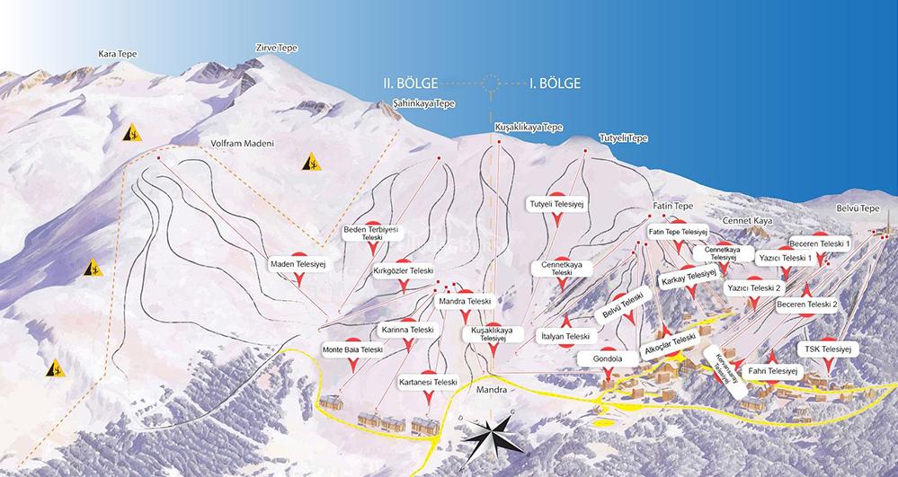 uludağ kayak pistleri